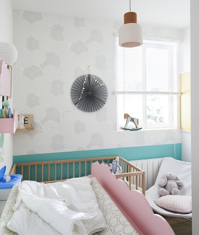 Bleu Blanc Rose Dans La Chambre Du Bébé