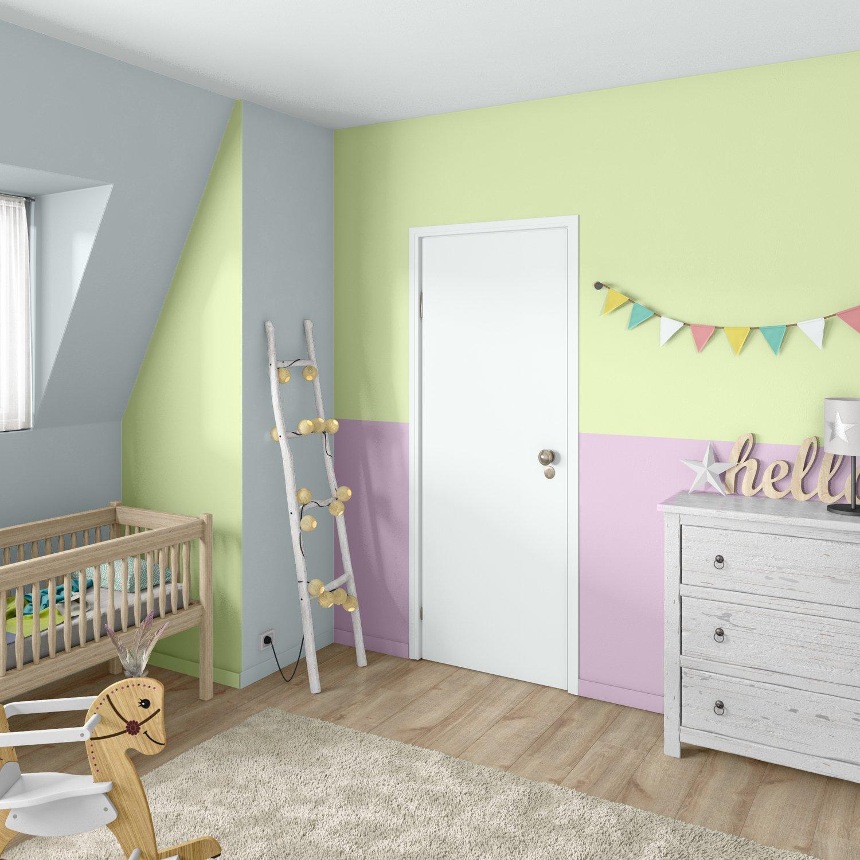 Une chambre de bébé rose et verte pour bébé   Leroy Merlin