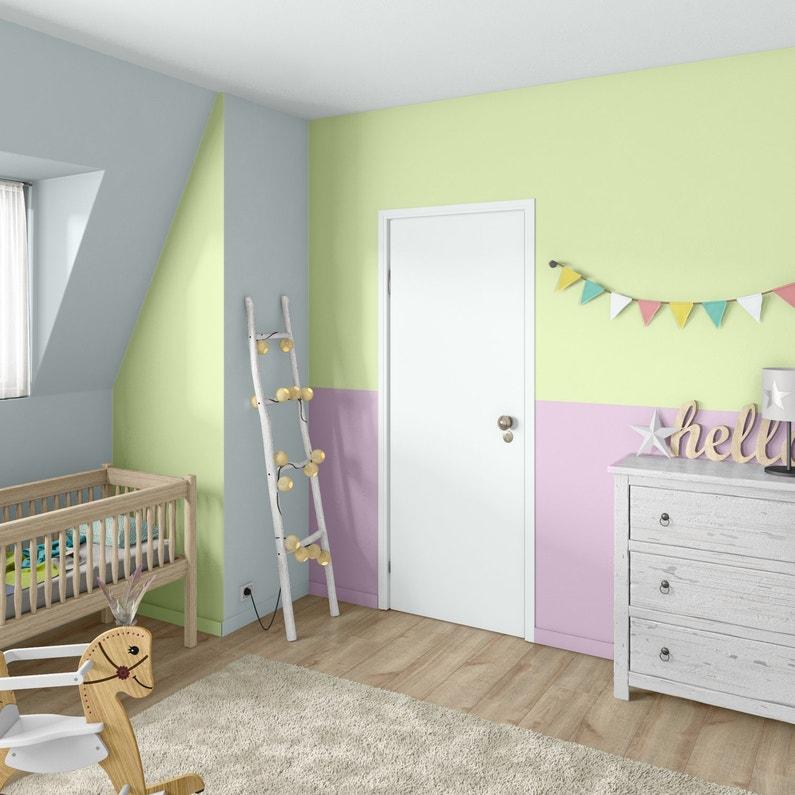 Une chambre de bébé rose et verte pour bébé | Leroy Merlin