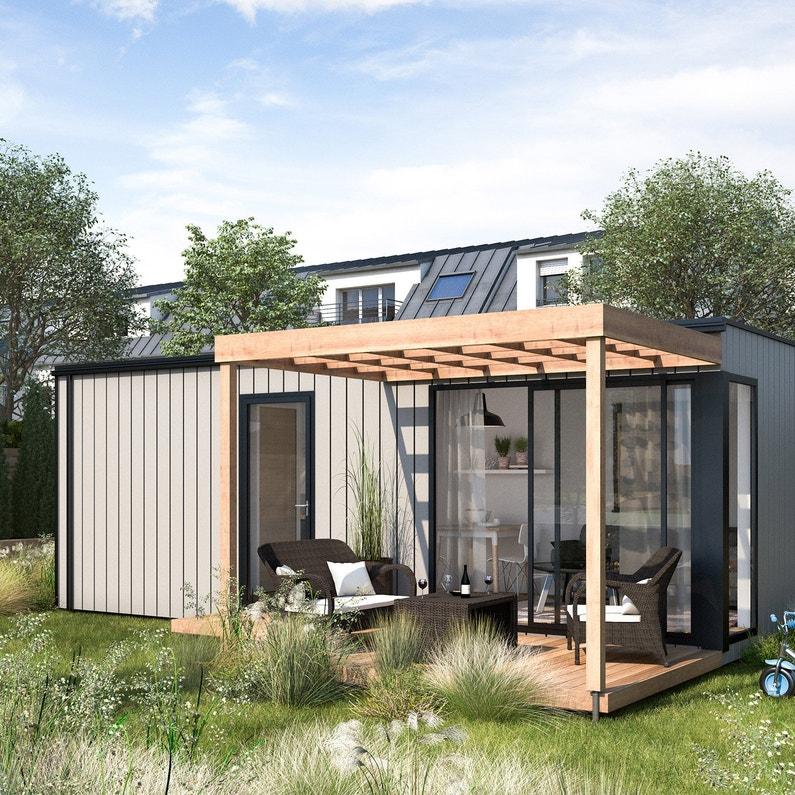 Studio de jardin bois BOXIMBY, 18 m²