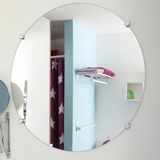 miroir non lumineux découpé rond l.60 x l.60 cm poli | leroy merlin