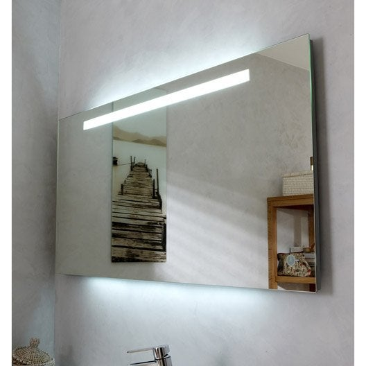 Miroir Lumineux Eclairage Intégré, L.120 X H.60 Cm Atria | Leroy