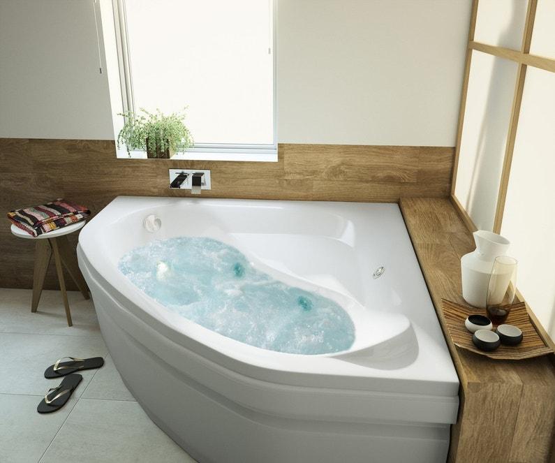 style zen dans la salle de bains avec une baignoire baln o. Black Bedroom Furniture Sets. Home Design Ideas