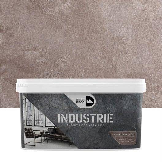 peinture à effet, industrie maison deco, marron glacé, 4 kg