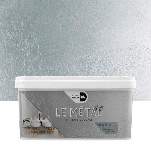 Peinture effet le m tal griff maison deco atlantis 2 l leroy merlin - Peinture effet metallise ...