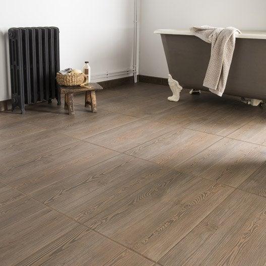 carrelage sol et mur taupe effet bois aspen x cm leroy merlin. Black Bedroom Furniture Sets. Home Design Ideas
