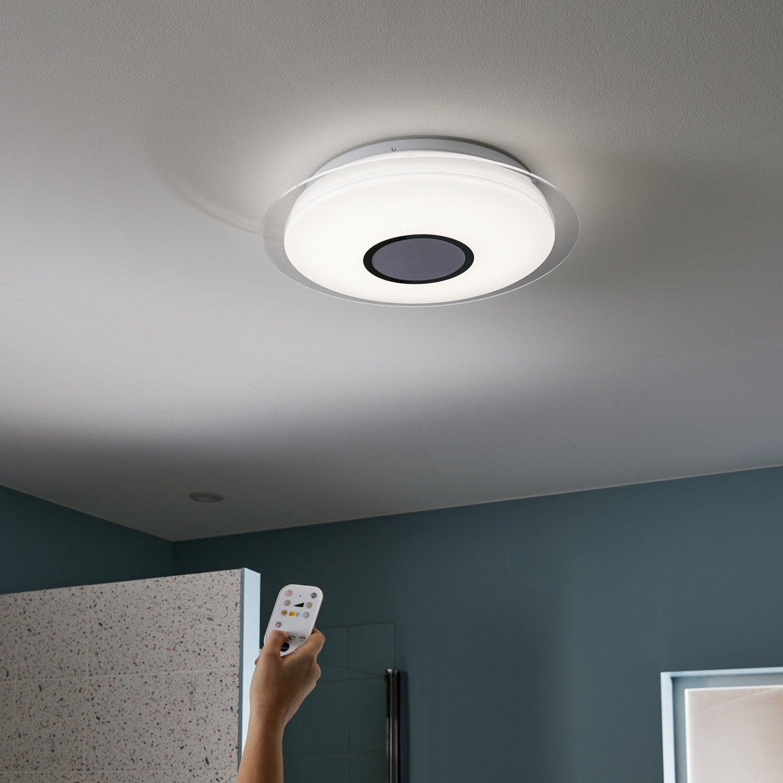 Plafonnier, design plastique blanc led intégrée INSPIRE D.40 cm