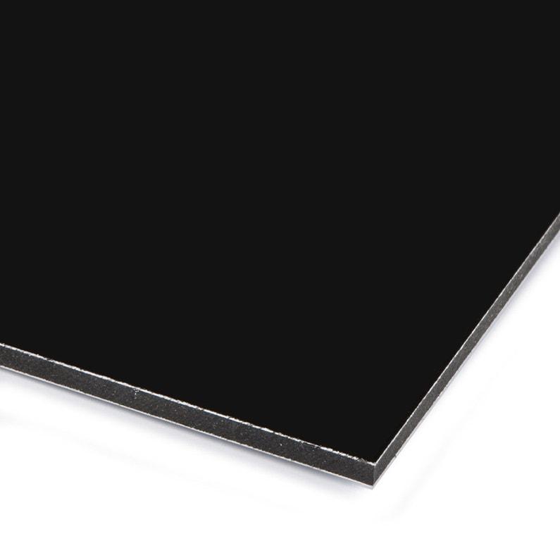 Plaque Pvc Expansé Polyéthylène Noir Lisse L 60 X L 50 Cm Ep 3 Mm
