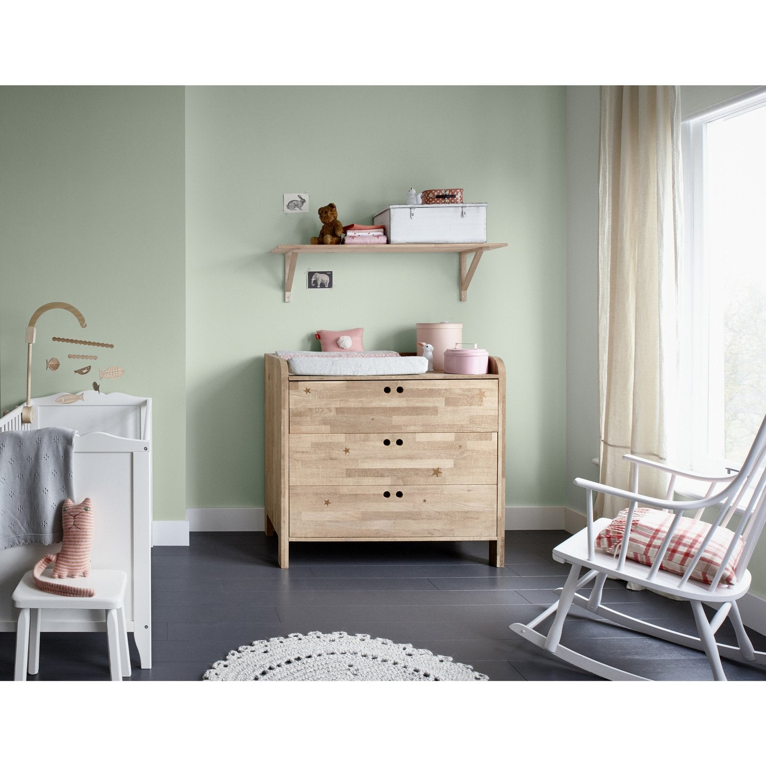 Du Vert Pergol Pour Une Chambre De Bébé