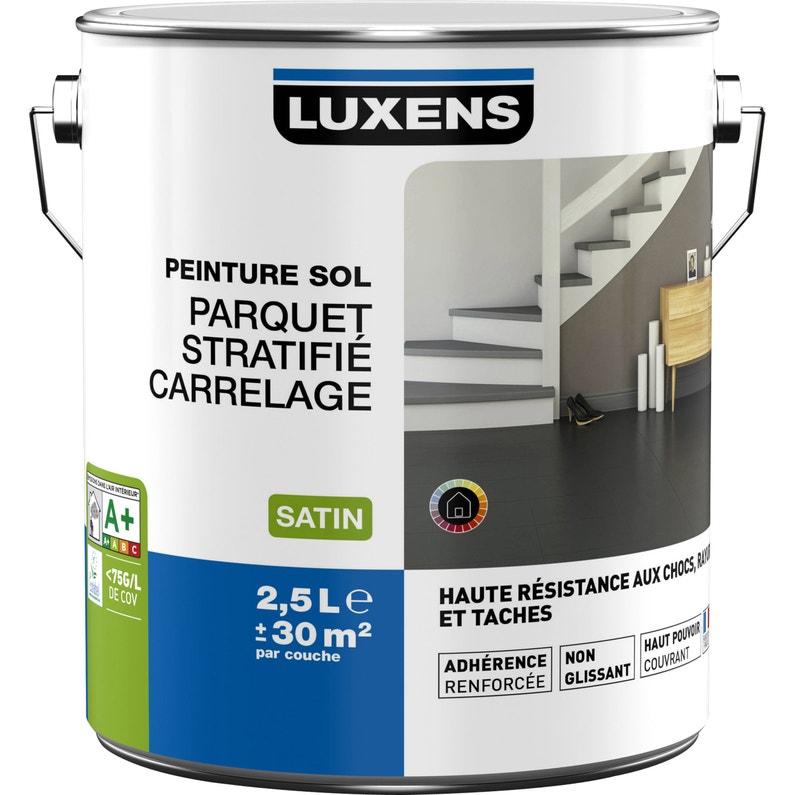 Peinture sol intérieur Haute résistance LUXENS, blanc blanc n°0, 2.5 ...