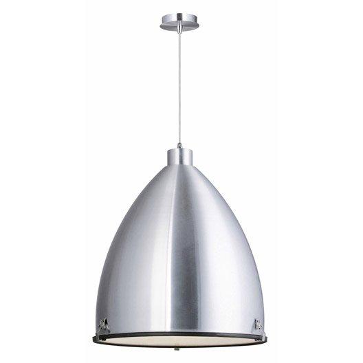 suspension e27 style industriel loft m tal aluminium 1 x 60 w lucide leroy merlin. Black Bedroom Furniture Sets. Home Design Ideas
