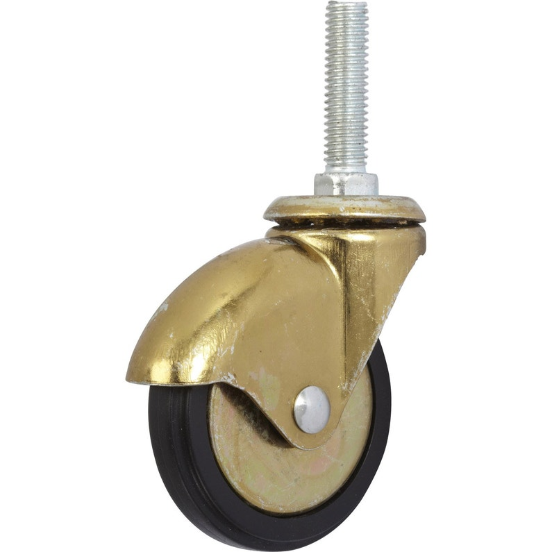 Roulette Pivotante à Tige Filetée Diam 50 Mm