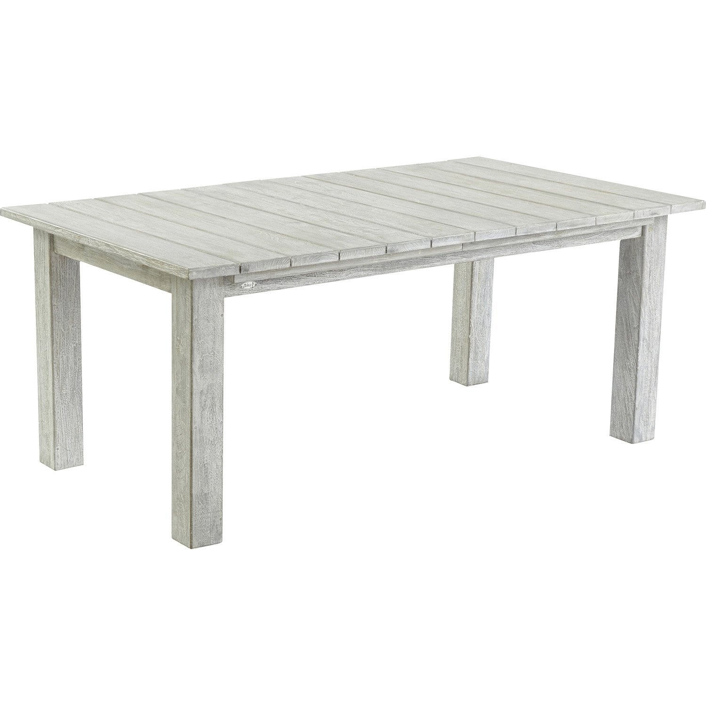 table de jardin vintage rectangulaire blanchi 10 personnes leroy merlin. Black Bedroom Furniture Sets. Home Design Ideas