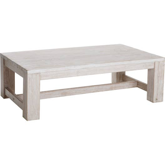 Table basse vintage rectangulaire blanchi 4 personnes leroy merlin - Table basse jardin d ulysse ...