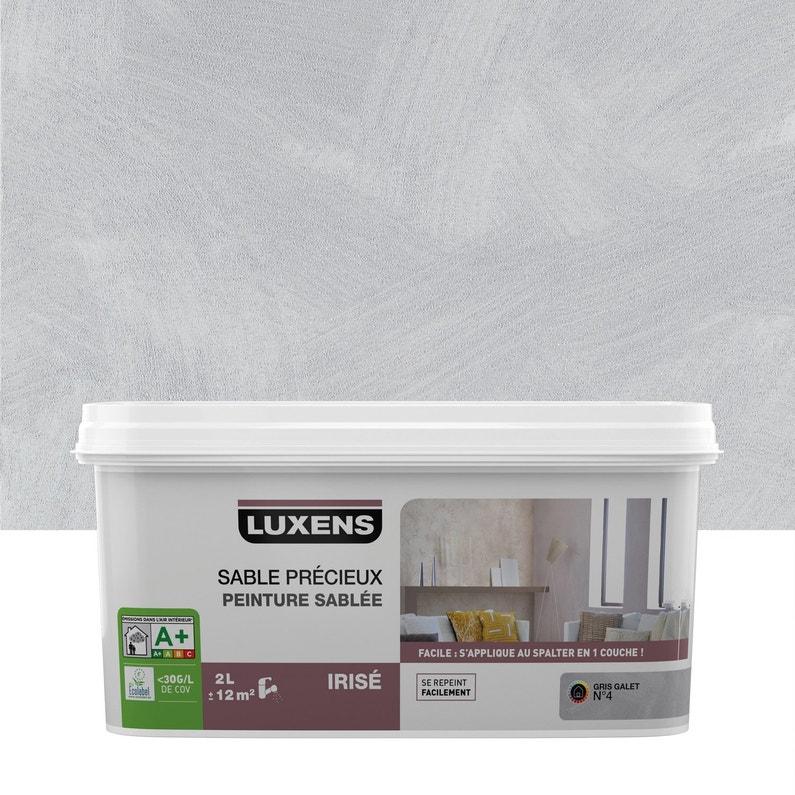 Peinture à effet, Sable précieux LUXENS, gris galet 4, 2 l | Leroy ...