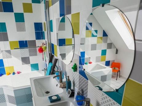 La salle de bains de Damien à Pont-à-Marcq