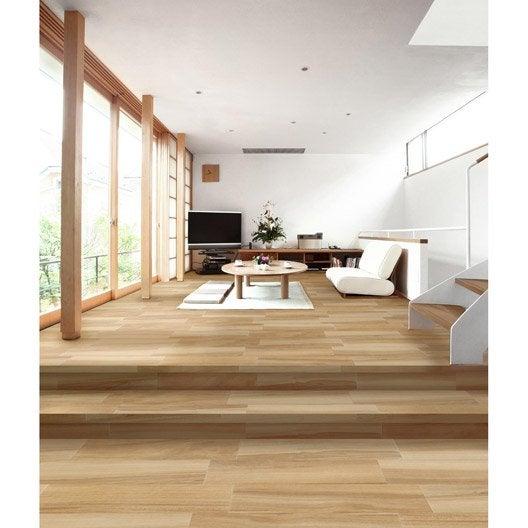 carrelage sol et mur naturel effet bois arizona x cm leroy merlin. Black Bedroom Furniture Sets. Home Design Ideas