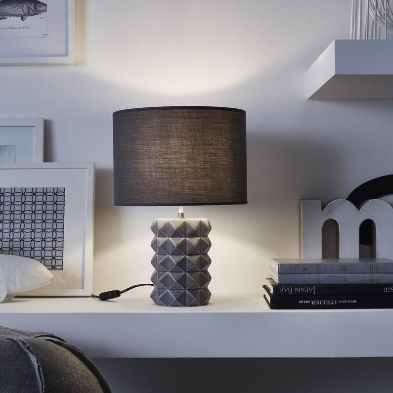 Lampe de bureau contemporaine noire leroy merlin - Lampe de bureau noire ...