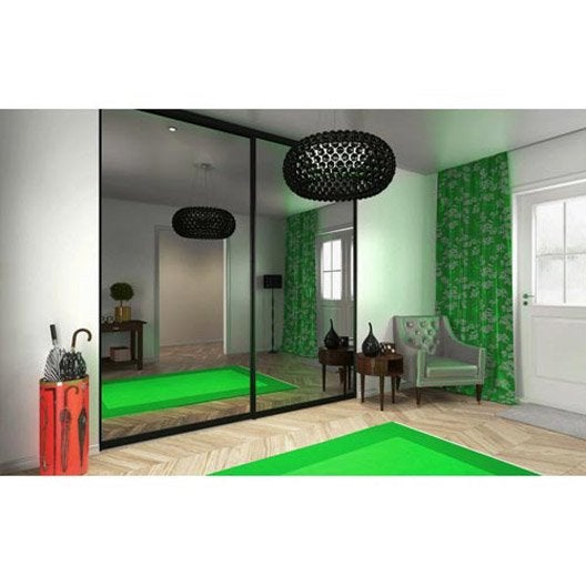 porte de placard coulissante sur mesure elfa uppsala de 45 60 cm leroy merlin. Black Bedroom Furniture Sets. Home Design Ideas