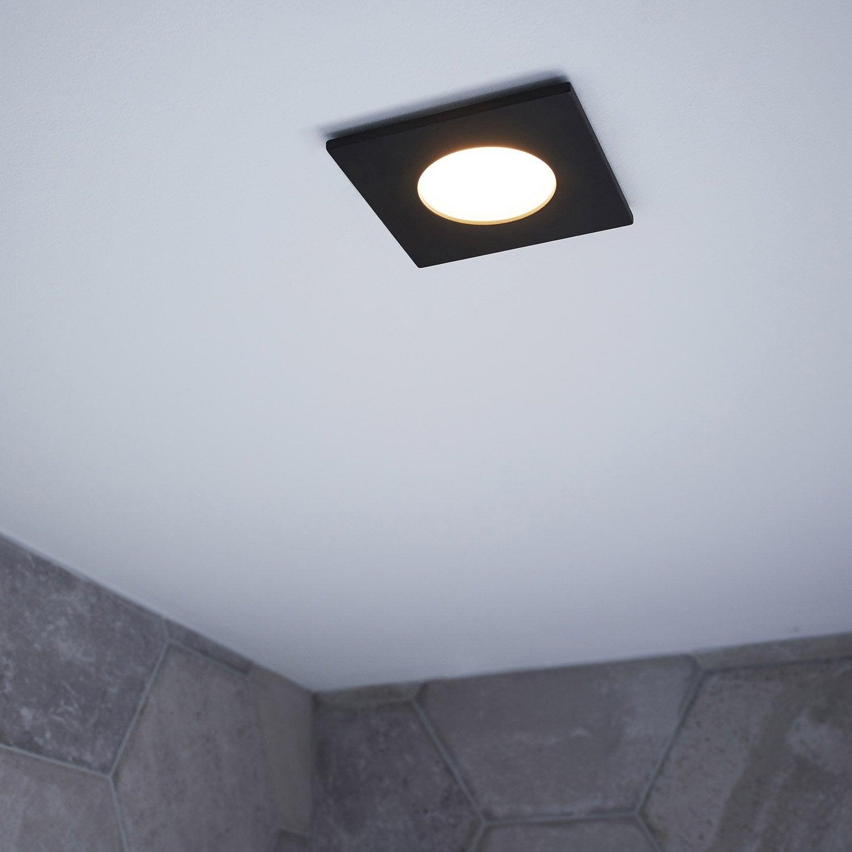 Spot individuel à fixer Lucik fixe led INSPIRE LED intégrée noir ...