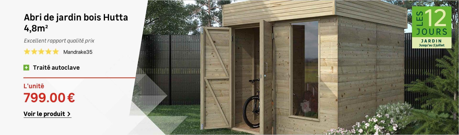 Abri de jardin, cabane, chalet, kiosque, garage   Leroy Merlin