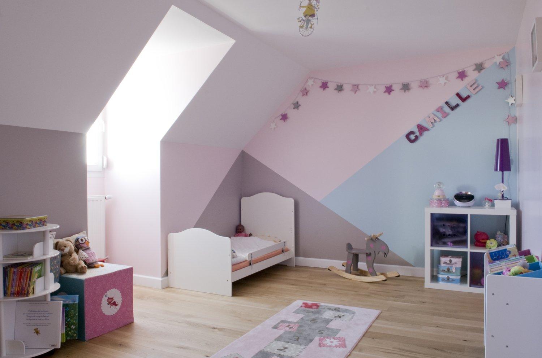 Chambre Gris Blanc Rose superbe accord de 3 couleurs dans la chambre de camille à