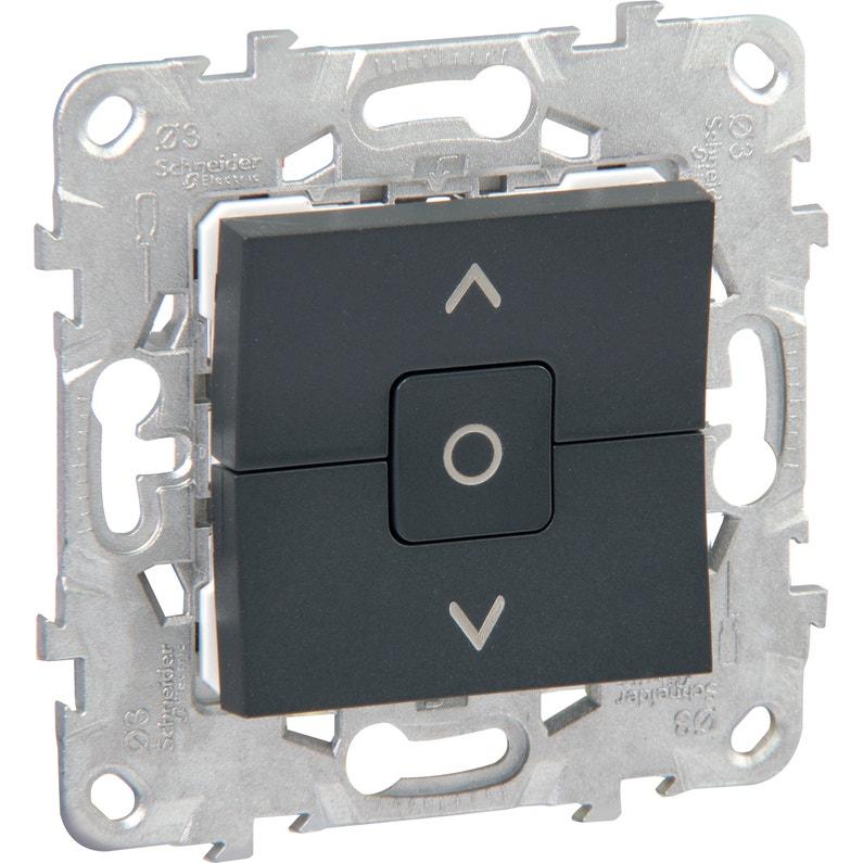Interrupteur Volet Roulant Unica Schneider Electric Anthracite