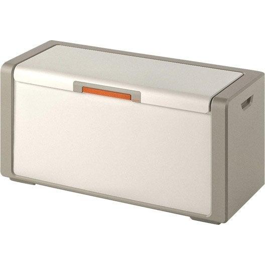 coffre résine spaceo premium, l.120 x h.54 x p.49 cm | leroy merlin