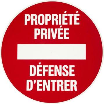 Disque propriété privée en plastique