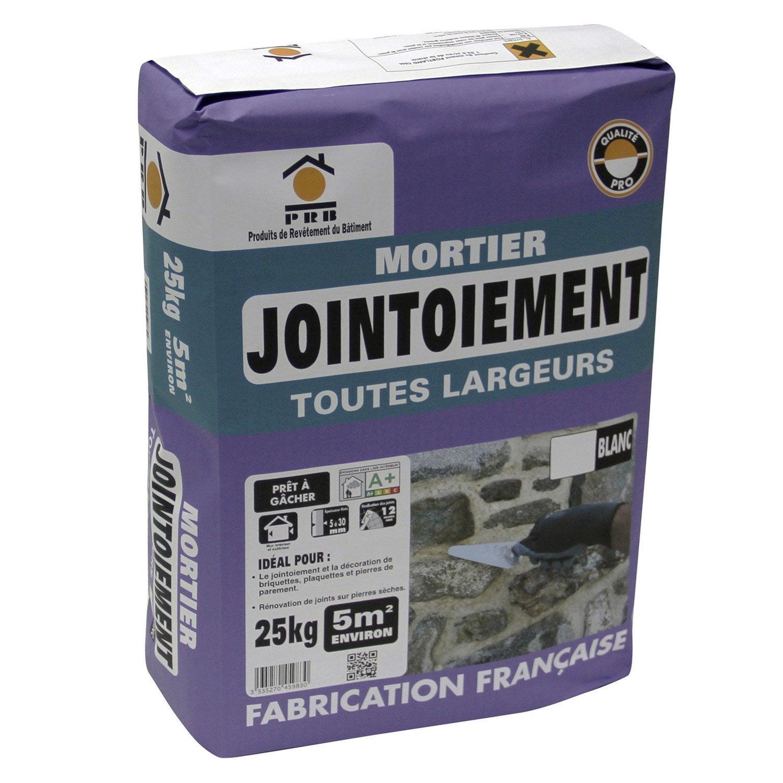 Mortier De Jointoiement Blanc PRB, 25 Kg ...