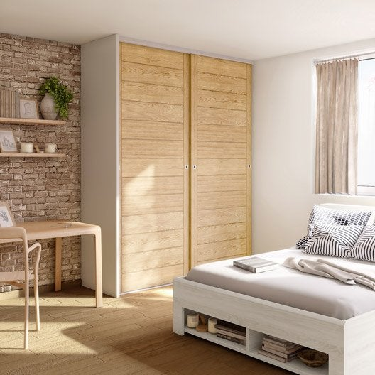 porte de placard coulissante spaceo x cm leroy merlin. Black Bedroom Furniture Sets. Home Design Ideas