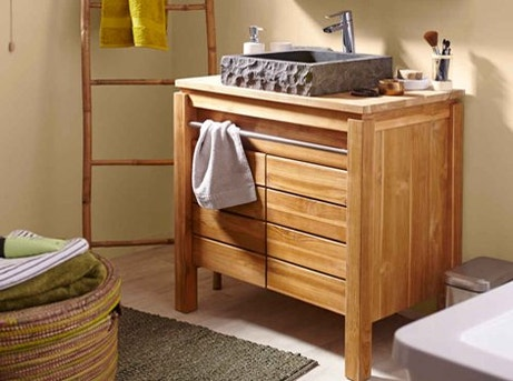 meuble salle de bain teck leroy merlin