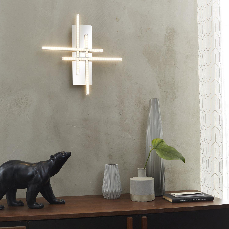 eclairer la pi ce avec une applique design en m tal chrom leroy merlin. Black Bedroom Furniture Sets. Home Design Ideas