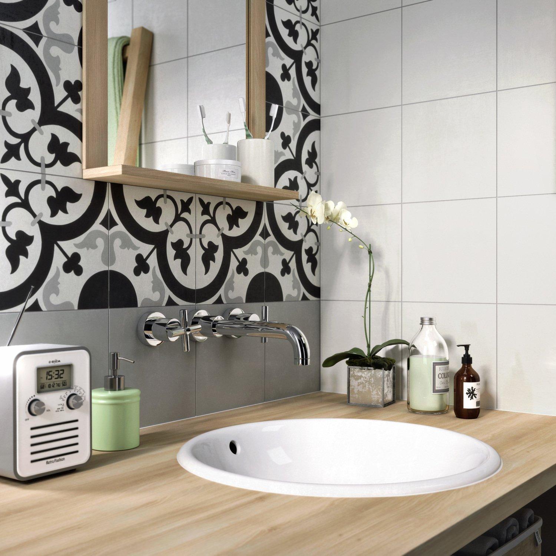 Des carreaux de ciment pour une salle de bains tendance | Leroy Merlin