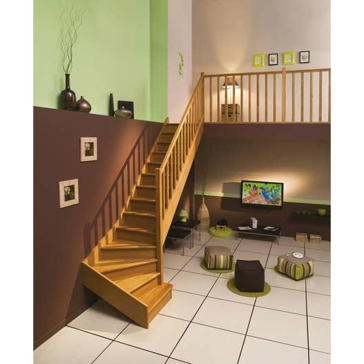 escalier quart tournant bas gauche authentic structure bois marche bois leroy merlin. Black Bedroom Furniture Sets. Home Design Ideas