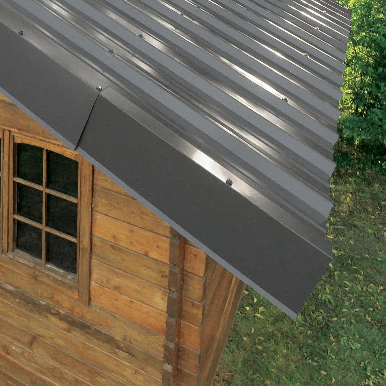 rive sur mur pour plaque nervur e 63 100 gris ral 7016 l 2 1 m leroy merlin. Black Bedroom Furniture Sets. Home Design Ideas