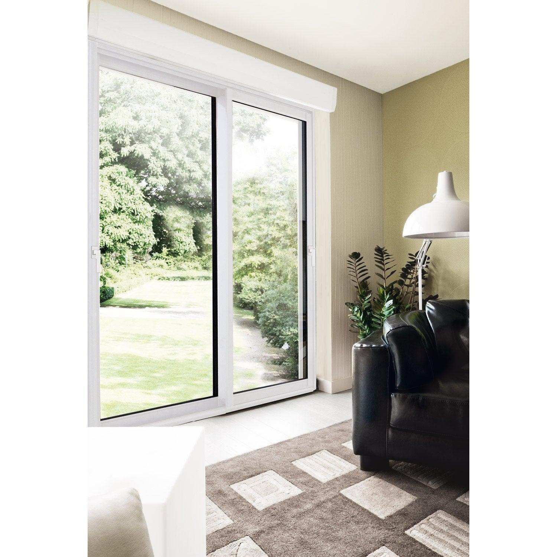 baie vitr e aluminium avec volet roulant brico premium x cm blanc leroy merlin. Black Bedroom Furniture Sets. Home Design Ideas