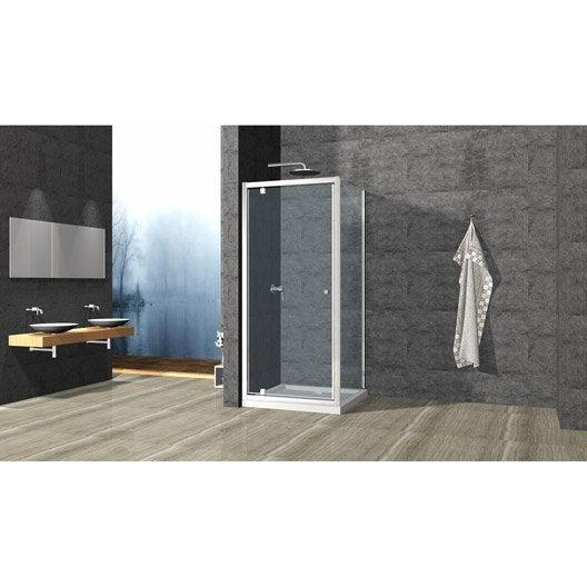 Porte de douche au meilleur prix leroy merlin - Porte douche plastique ...