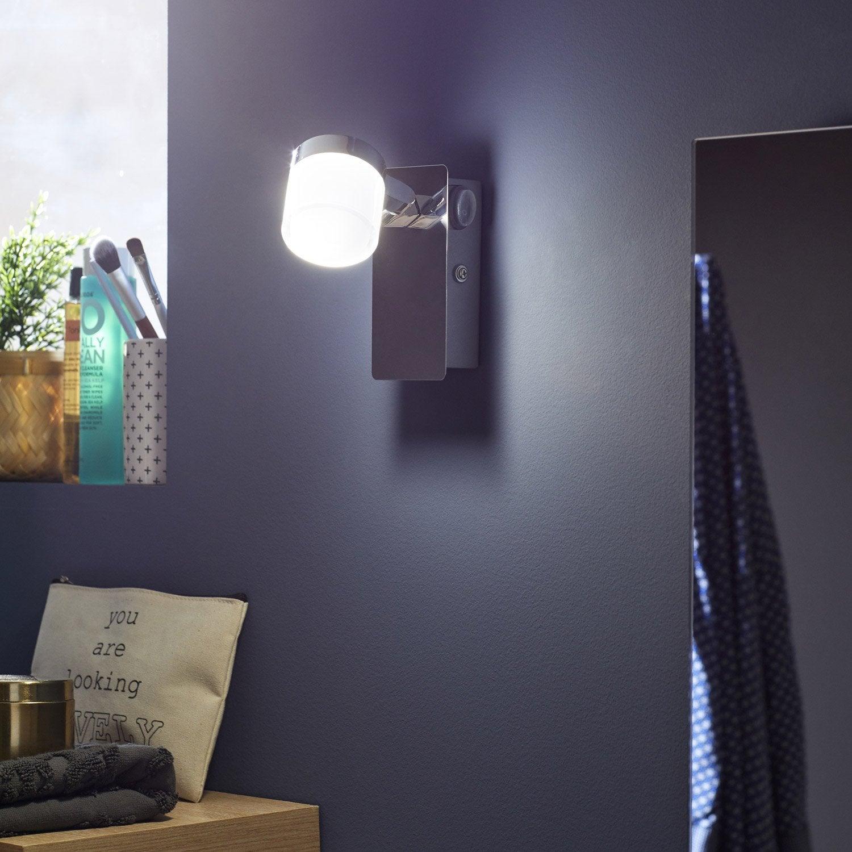 Spot patère led intégrée, métal, INSPIRE Coos