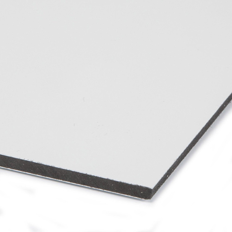 Plaque coup/é PVC rigide 1000 x 1000 x 2 mm blanc
