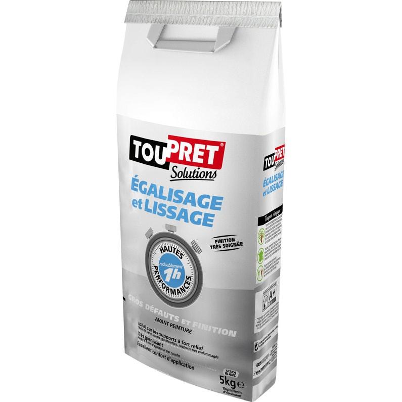 Enduit De Lissage Poudre Haute Performance Blanc Toupret 5 Kg