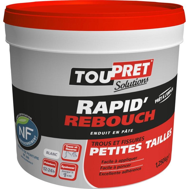 Enduit De Rebouchage Pâte Rapid Rebouch Blanc Toupret 125 Kg