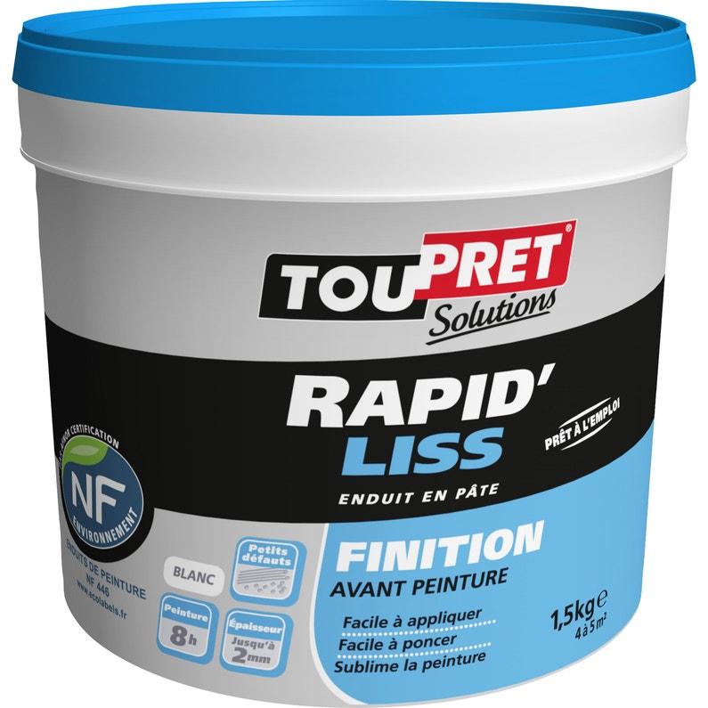 Enduit De Lissage Toupret Rapid Liss 1 5 Kg En Pate Pour Mur Et Plafond Leroy Merlin