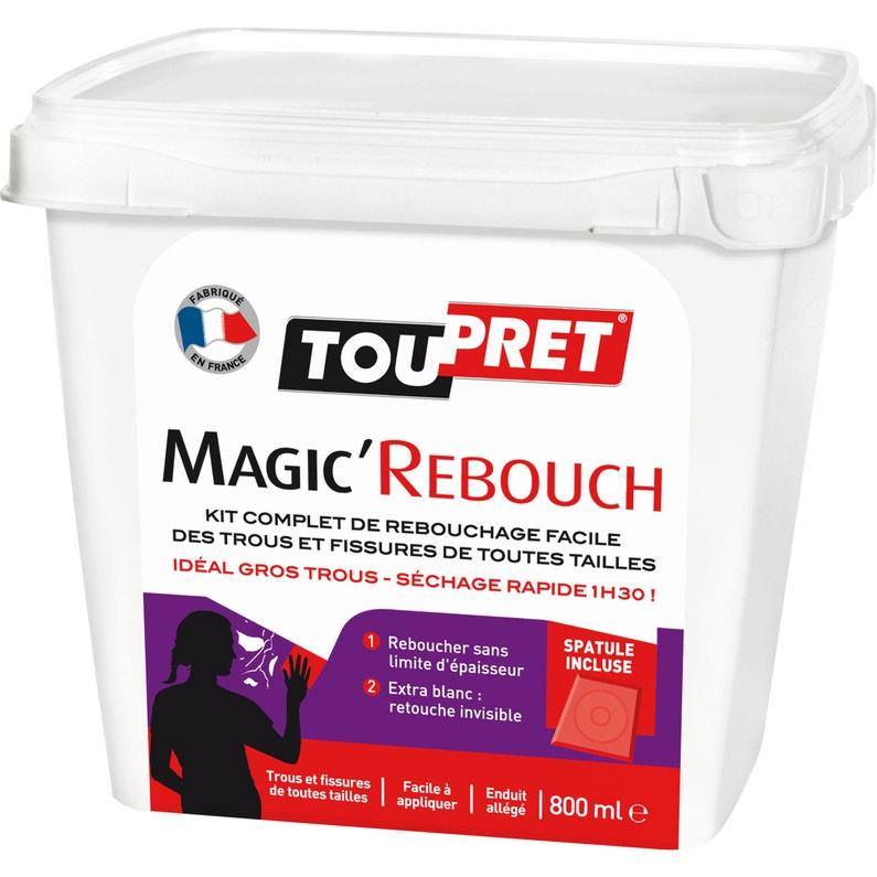 Enduit De Rebouchage Pâte Allégée Magic Rebouch Blanc Toupret 800 Ml
