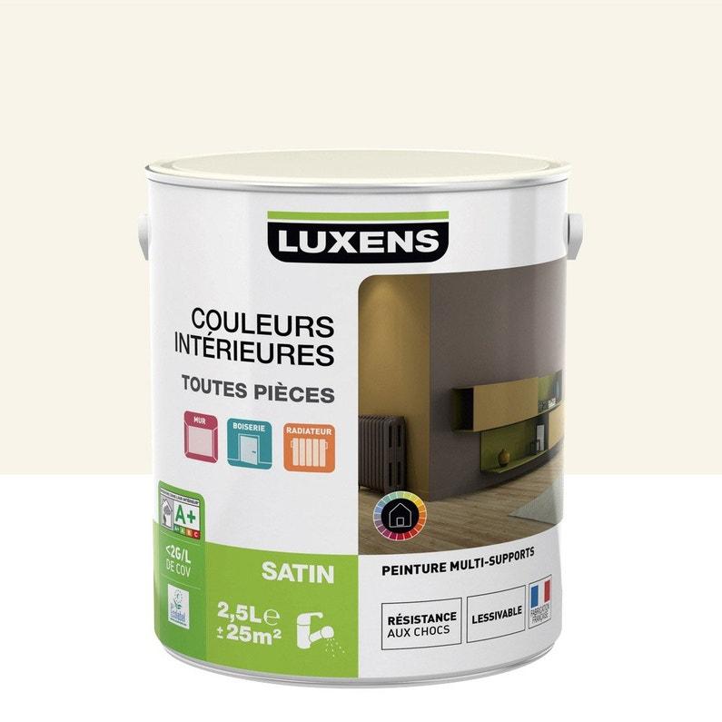 Peinture Blanc Ivoire 5 Satin Luxens Couleurs Intérieures Satin 2 5 L