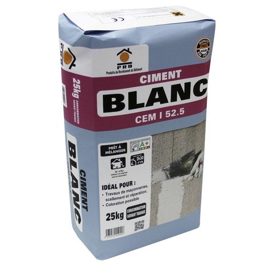 ciment blanc ce prb 25 kg leroy merlin. Black Bedroom Furniture Sets. Home Design Ideas