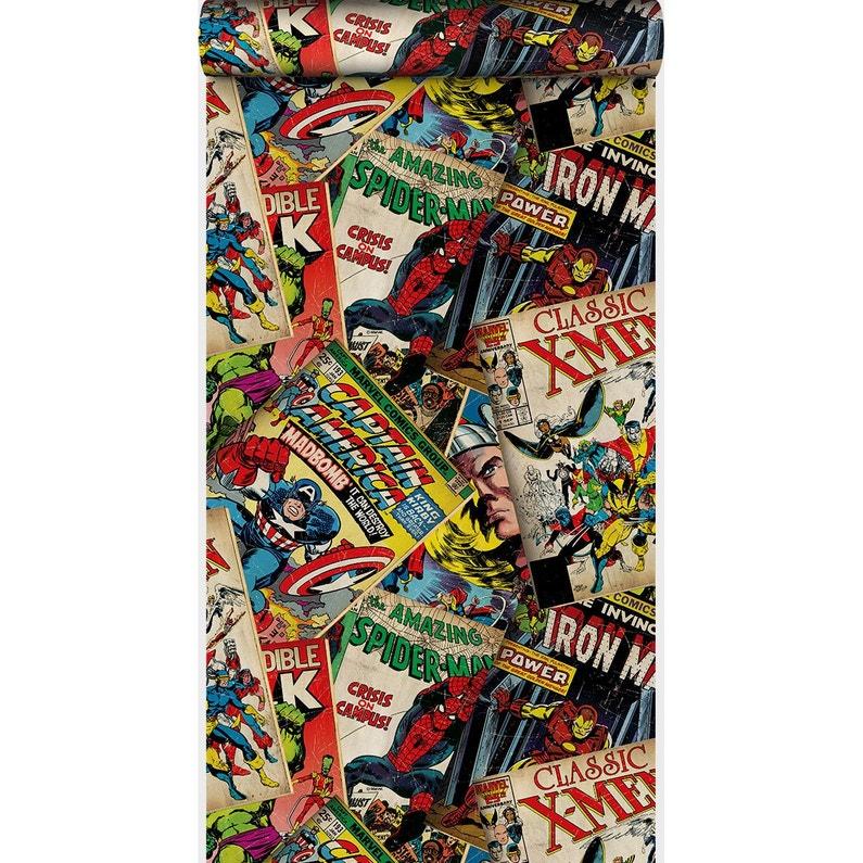 Papier Peint Papier Marvel Story Multicouleur Leroy Merlin