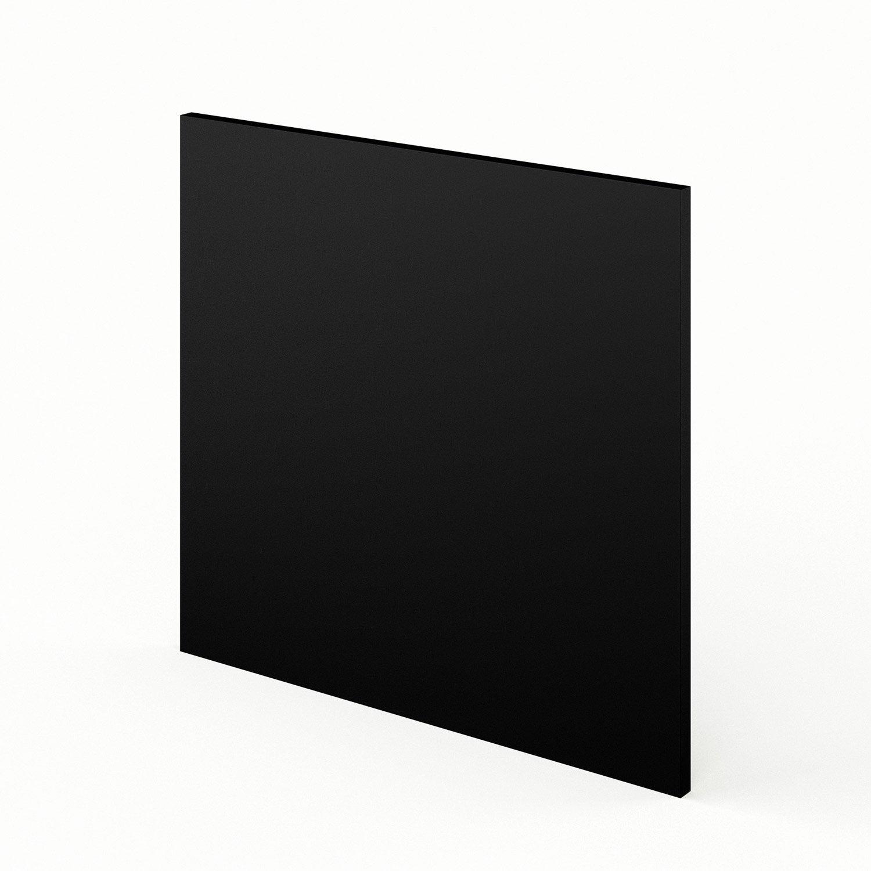 porte lave vaisselle de cuisine noir mat edition x cm leroy merlin. Black Bedroom Furniture Sets. Home Design Ideas
