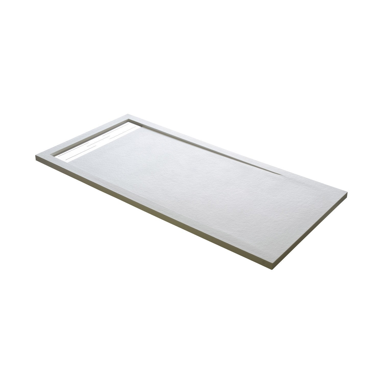 receveur de douche rectangulaire x cm r sine blanc urban sur mesure leroy merlin. Black Bedroom Furniture Sets. Home Design Ideas