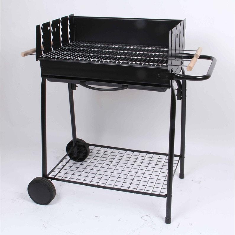 Barbecue Au Charbon De Bois Somagic Teide Noir Leroy Merlin